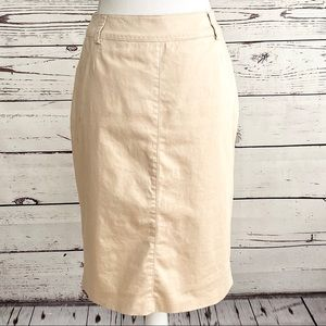 Basler Classic Casual Tan Pencil Skirt SZ 10
